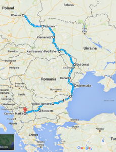 Ukraine, Moldova, Romania, Bulgaria, Macedonia